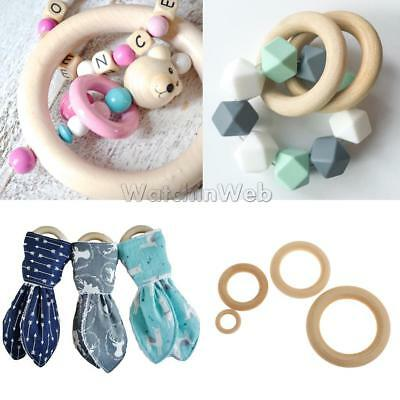 10pcs Babywearing Teething Breastfeeding Necklace Carrier Sling Wood Wrap Ring