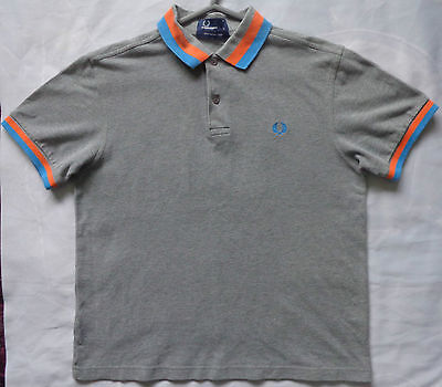 "FRED PERRY Polo Shirt for Teenage Boys. VGC. Size Large, 19"" pit-to-pit. Grey"