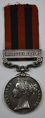 Victoria India General Service Medal Hazara 1891 To 3586 PTE A MANSELL SEA HIGH