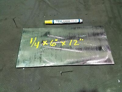 "Steel Plate, sheet 1/4"" x 6"" x 12""  hot roll, machinable, weldable"