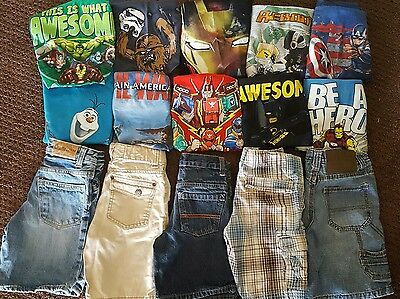 Boys Clothes Lot/Outfits Size 5T Summer 10 Outfits w/Shorts Marvel Lego Avengers