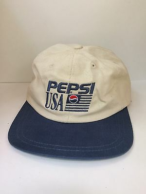Vintage Pepsi USA Strap Back Hat Dad 90s