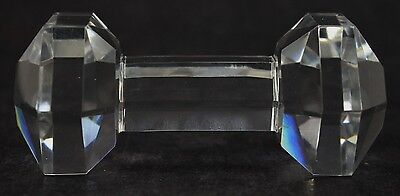 Antique Prism Cut Hexagonal Bar Bell Crystal Glass Master Knife Rest