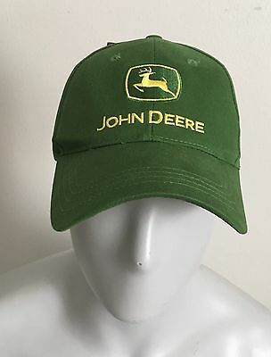 John Deere Embroidered Logo Green & Yellow Official Licensed Hat Cap Adult  New!