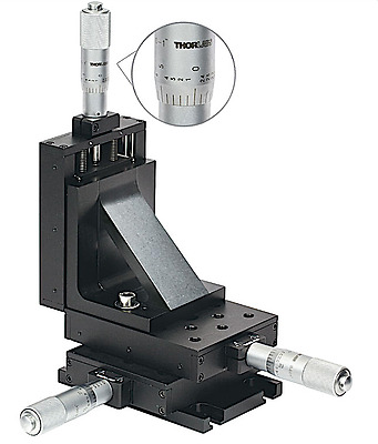 """Thorlabs PT3 1"""" XYZ Translation Stage with Standard Micrometers 1/4""""-20 Taps NEW"""