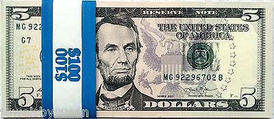 20 $5 dollar bills Crisp Uncirculated Mostly Consecutive #'s series 2013 Chicago