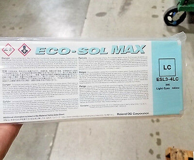 Roland Eco Sol Max 440ml Ink LIGHT CYAN