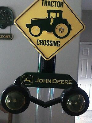 Animated John Deere Tractor Crossing Bank