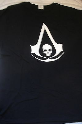 Assassin's Creed Iv Black Flag Black Tee Shirt 100% Cotton Size Xl