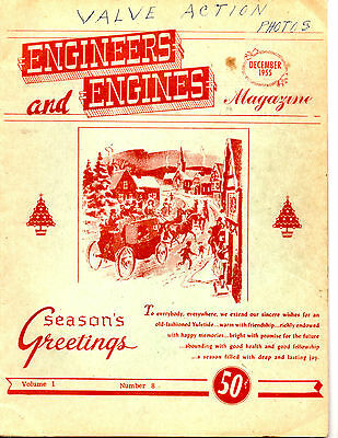 December 1955 Engineers And Engines Magazine-Tractors-Steam Engines