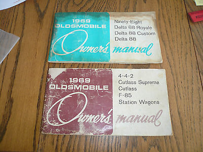 1969 Oldsmobile Owner's Manuals - Lot of 2 items