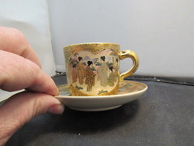 antique japanese satsuma cup and saucer