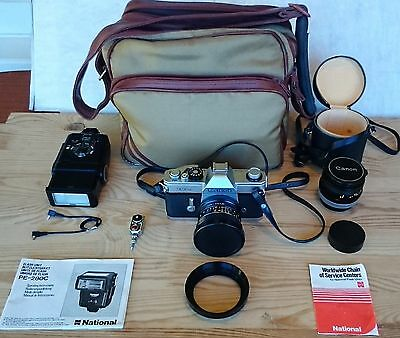 Canon Tlb #161596 35Mm Film Camera Package Rare Vintage Immaculate Condition