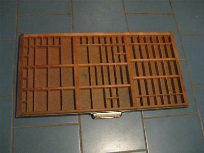 Antique Wooden Type Set Printer Drawer/Tray/ Shadow Box       #6