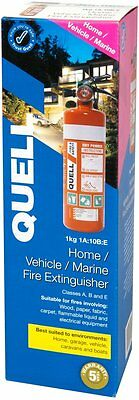 Quell 1Kg Fire Extinguisher 1A: 10B:e Home Vehicle Marine Strong Mount Kit+Strap