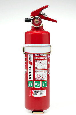 Quell 1.5Kg Fire Extinguisher Abe 2A: 20B:e Home+Workshop Use+ Metal Mount Kit