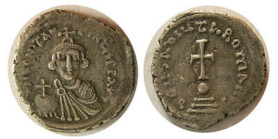 FA-B0004- Byzantine empire- CONSTANTS II 641-668 A.D. AR Hexagram