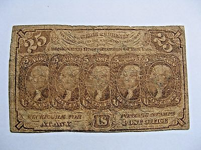 25 Cent US Fractional Currency  FR 1281