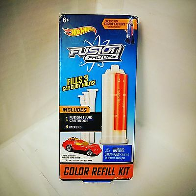 Hot Wheels Fusion Factory Color Refill Kit - Red - NIP