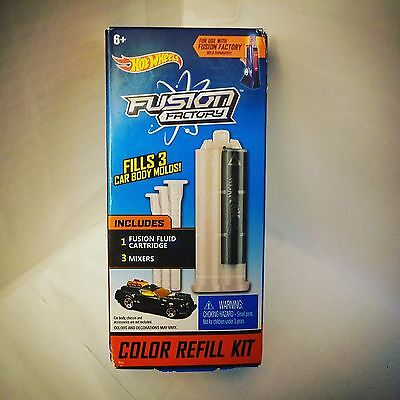 Hot Wheels Fusion Factory Color Refill Kit - Black - NIP