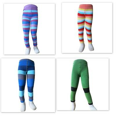 Striped Cotton Leggings Boys and Girls  every day wear Fine Stretch  12-18m