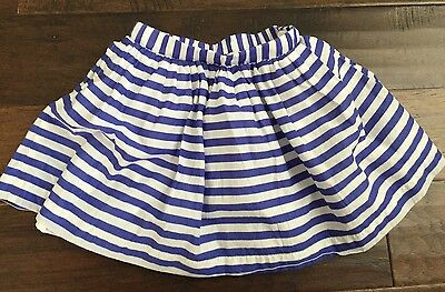 Baby Gap Girls Striped Skirt, Blue and White, 4T