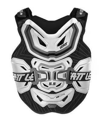 Leatt Chest Protector 5.5 Lite Bmx Mx Atv Snow Support White Adult One Size Os