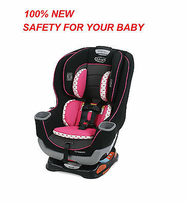 NEW Graco Baby Extend2Fit Convertible Car Seat, Kenzie