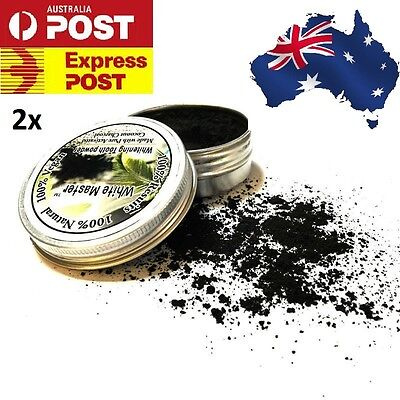 2 x Activated Charcoal Teeth Whitening Organic Coconut Shell Powder Carbon Coco