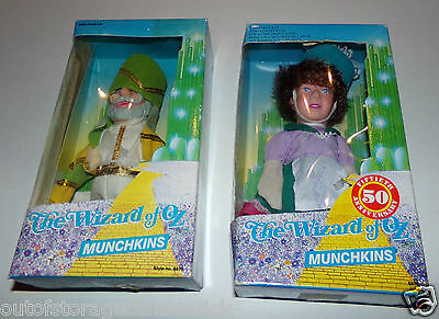 Wizard of OZ Munchkins Dolls 1988 Lot of 2 - New In Boxes