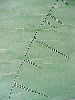 MICK PLOHL - Banana Leaf - Watercolour & Ink on Paper - Free Shipping