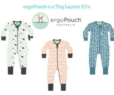 ergoLayers Sleep Wear 0.2 Tog 3 Colours 0 mths to 2yrs (5 sizes)