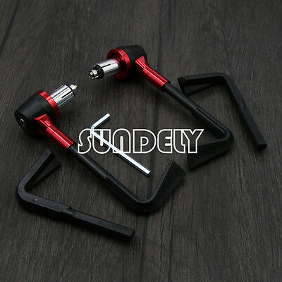 "Red Universal 7/8""Motorcycle Brake Clutch Levers Protector Protect Lever Guard"