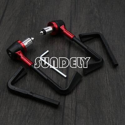 "Motorbike Red CNC Handlebar Protector 7/8"" Brake Clutch Protect Lever Guard"