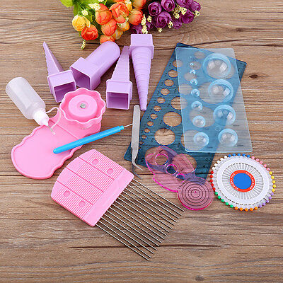 11pcs Paper Quilling Board Mould Crimper Comb Tools DIY Handwork Craft Kit
