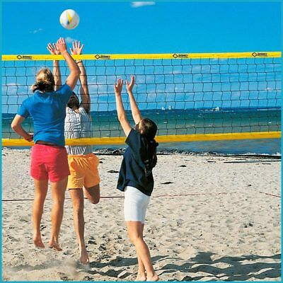 Beachvolleyball Beach Volleyball Trainingsnetz Training Netz, 9,5 x 1,0 m, Gelb