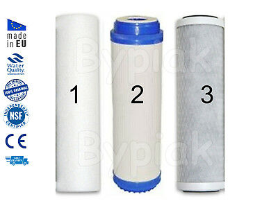 Brand New 3 Stage whole house high flow home water filter replacements 10""