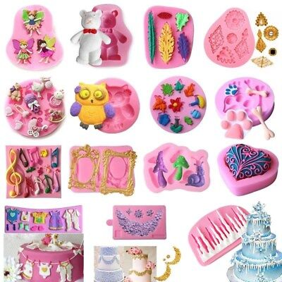 3D Silicone Fondant Mold Cake Decorating Chocolate Sugarcraft Baking Mould Tool