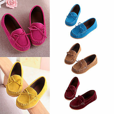 New Boys Girls Kids Casual Loafers Toddler Child Peas Shoes Flats Soft Rubber