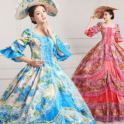 18th Rococo Baroque Cosplay Medieval Costume Marie Antoinette Gown Dresses