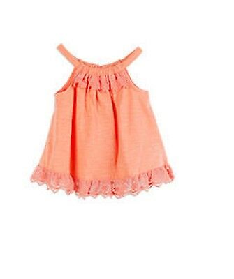 Pumpkin Patch Baby Girl Ruffle Lace Sleeveless Top Orange Size 0