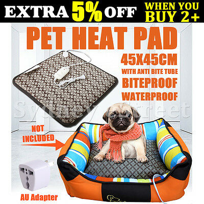45*45cm Electric Pet Heat Heated Pad Mat Blanket Bed Dog Puppy Cat Warm Winter