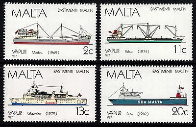 Malta 1987 Ships (5th Series) Complete Set SG809 - 812 Unmounted Mint