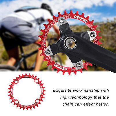 DECKAS Narrow Wide Bike MTB Round Oval Chainring Chain Ring Single Plate A2