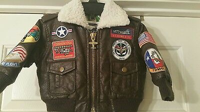 Boy's Up And Away US Air Force Flight Jacket Size 18 Months