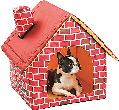 Portable Brick Dog House Warm And Cozy for Small Dog or other Small Pet Travel