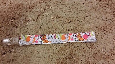Cute Handmade Dummy Pacifier Saver Clip Marie Aristocats Disney Baby Girls