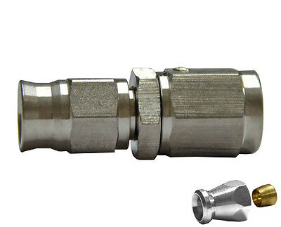 "3/8"" UNF Straight Female Fitting for AN-3 (3/16"") Teflon Brake Hose System End"