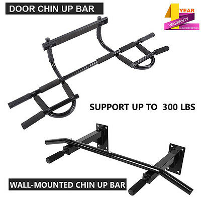 Pull Up Bar Exercise Fitness Home Gym Chin Ups Sit Ups Bar Door Wall Mounted UK