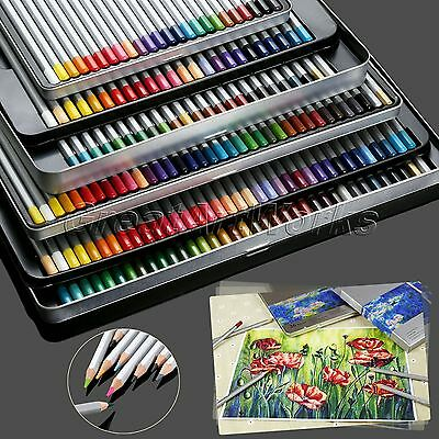 Artist Sketching Drawing Oil Base Pencils Set 24/36/48/72 Colors with Metal Case